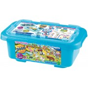 Akvamozaīka no pērlītēm Mega Craft Box Safari Aquabeads 32808