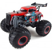 Radiovadāmā mašīna Monster Red Crazy Hot Rod 1:16 Amewi 22455