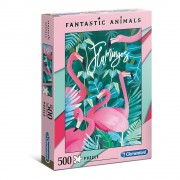 Clementoni 35067 Puzle Fantastic Animals Flamingos ( 500 gab.)