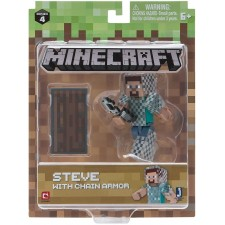 Minecraft Action Figure Steve with chain armor 7 cm. MIN1649